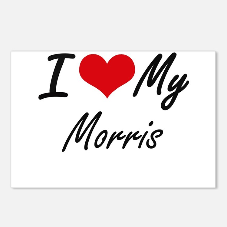 I Love My Morris Postcards (Package of 8)
