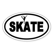 Figure Skating Oval Stickers