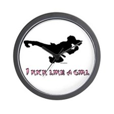I Kick Like A Girl Wall Clock