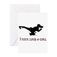 I Kick Like A Girl Greeting Card