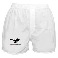 I Kick Like A Girl Boxer Shorts
