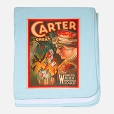 Vintage poster - Carter the Great baby blanket