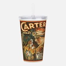 Vintage poster - Carte Acrylic Double-wall Tumbler