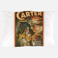 Vintage poster - Carter the Great Pillow Case