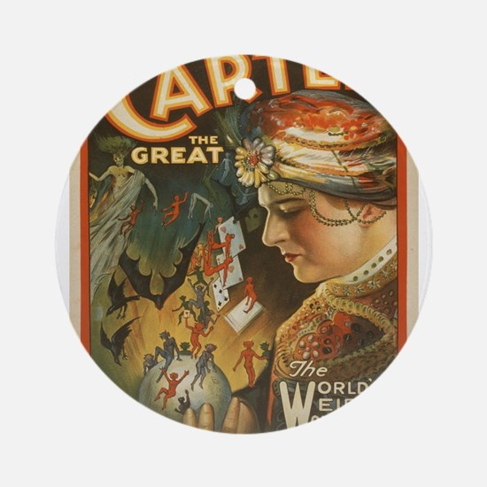 Vintage poster - Carter the Great Round Ornament