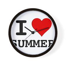 I love Summer Wall Clock