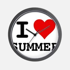 I love Summer Wall Clock