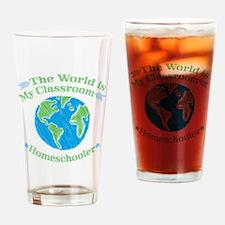Cute Homeschool Drinking Glass