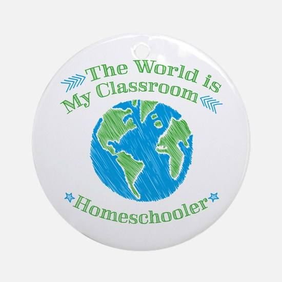 Unique Homeschool Round Ornament