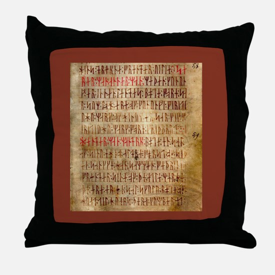 Codex Runic Throw Pillow
