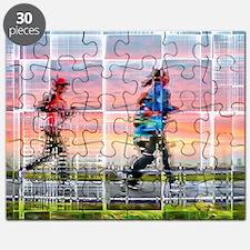 Cute Women running Puzzle