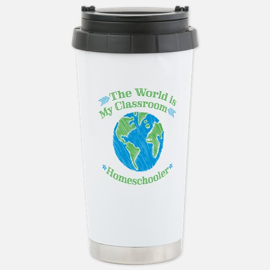 World is My Classroom Stainless Steel Travel Mug