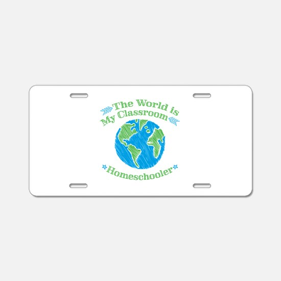 World is My Classroom Aluminum License Plate