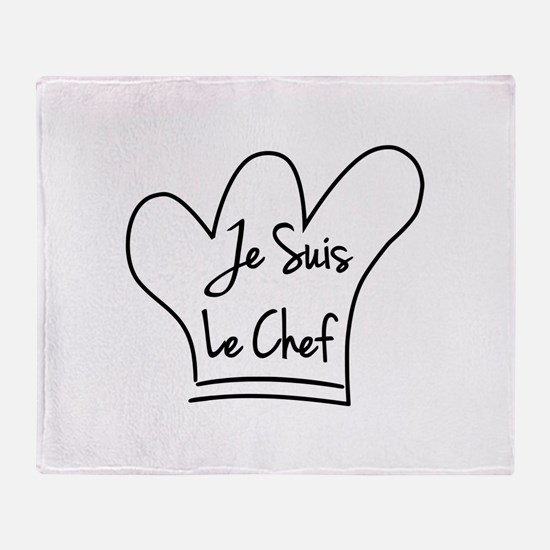 Je Suis Le Chef Throw Blanket
