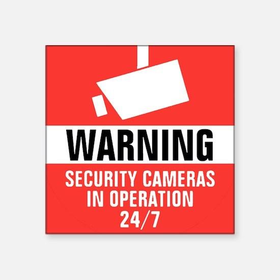 Security Camera Round Warning Sticker Sticker