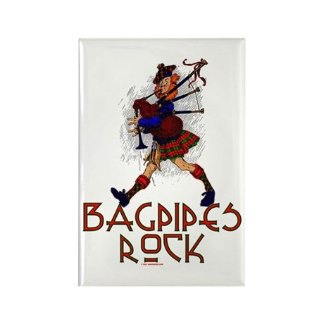 Bagpipes Rock Rectangle Magnet