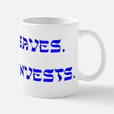 Jesus Saves, Moses Invests Mug