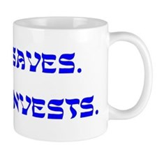 Jesus Saves, Moses Invests Mug
