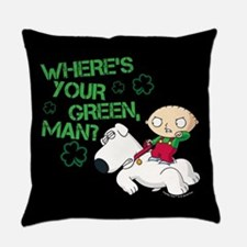 Family Guy Where's Your Green Everyday Pillow