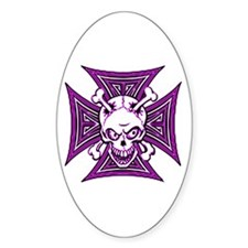 The Haunted Dead V Oval Decal
