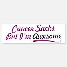 Cute Cancer sucks Sticker (Bumper)