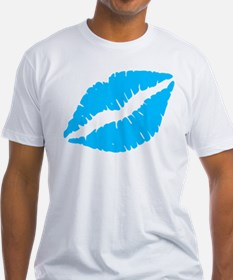 Blue Kiss Lips T-Shirt