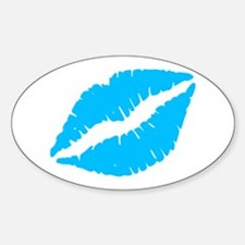 Blue Kiss Lips Decal