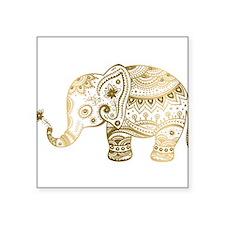 "Cute Elephant Square Sticker 3"" x 3"""