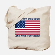 Personalized Patriotic American Flag Classic Tote