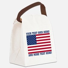 Personalized Patriotic American Flag Classic Canva