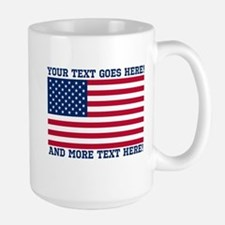Personalized Patriotic American Flag Classic Mugs