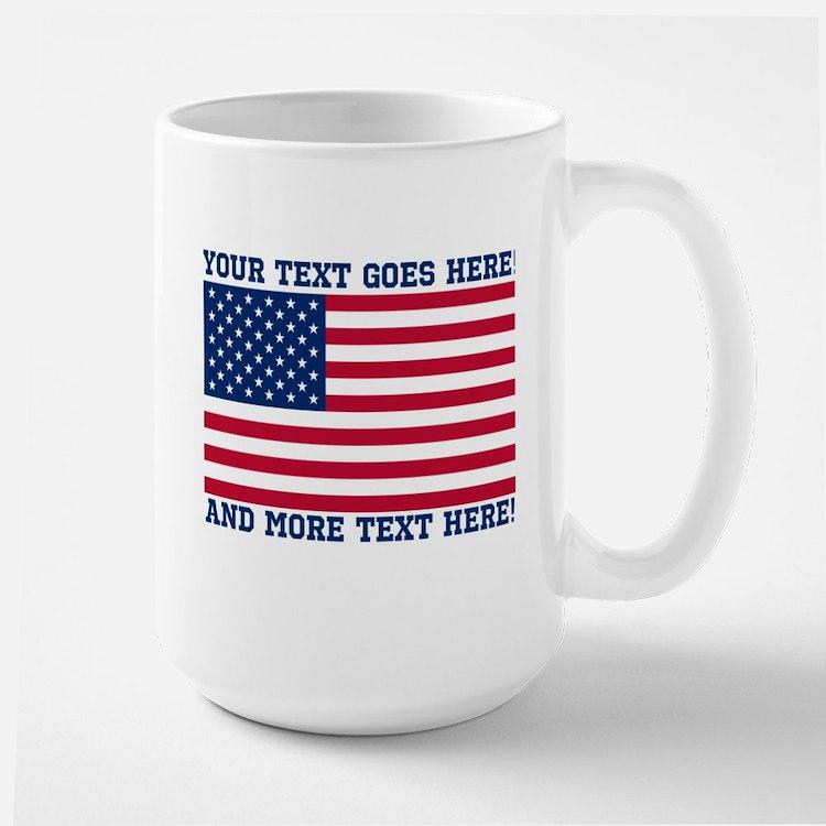 Personalized Patriotic American Flag Classic Mugs