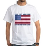 Patriotic personalized Mens White T-shirts