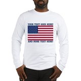 American flag Long Sleeve T Shirts