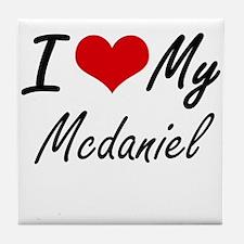 I Love My Mcdaniel Tile Coaster