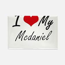 I Love My Mcdaniel Magnets