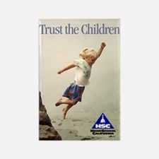 Trust the Children Rectangle Magnet