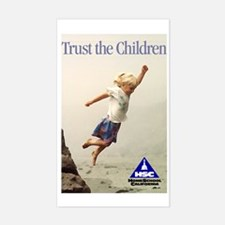 Trust the Children Rectangle Decal