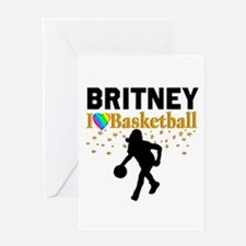 BASKETBALL STAR Greeting Card