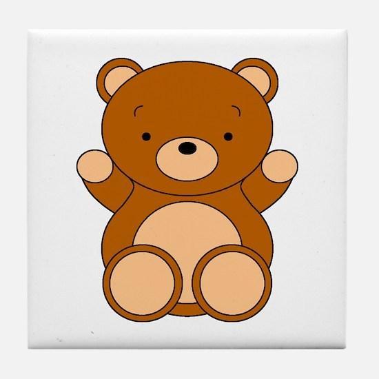 Cute Cartoon Bear Tile Coaster