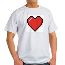 Red video game pixel heart T-Shirt