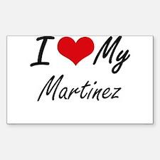 I Love My Martinez Decal