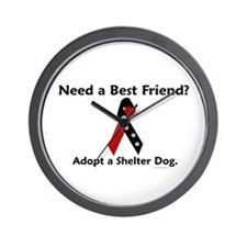 Need A Best Friend 1 Wall Clock