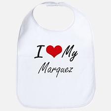 I Love My Marquez Bib