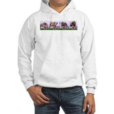 Bulldog Puppy Flower Row Jumper Hoodie