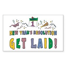 New Year's Resolution Rectangle Decal