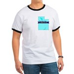True Blue Utah LIBERAL Men's Ringer T-Shirt