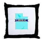 True Blue Utah LIBERAL Throw Pillow