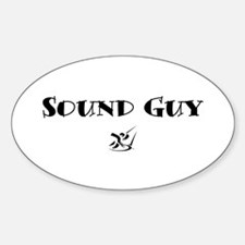Sound Guy Oval Decal