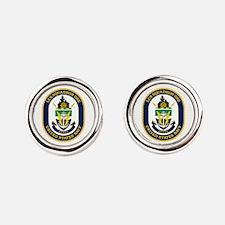 LCS Squadron 1 Crest Round Cufflinks